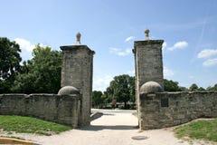 Utfärda utegångsförbud för den gamla staden för St Augustiine nord Arkivfoton
