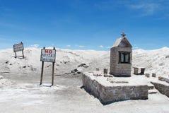 Utfärdpunkt för salt sjö Royaltyfri Fotografi