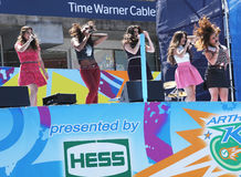 Utför femte harmoni för den amerikanska flickagruppen på Arthur Ashe Kids Day 2013 på Billie Jean King National Tennis Center Royaltyfria Bilder