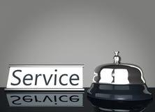 Utför service Klocka med servicetecknet stock illustrationer