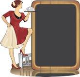 utför service servitrisen Royaltyfri Bild
