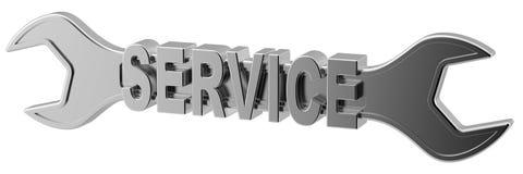 utför service skiftnyckeln Vektor Illustrationer