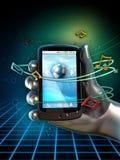 utför service smartphone Fotografering för Bildbyråer