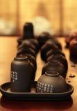 utför service tea arkivfoton