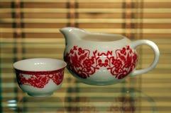 utför service tea Royaltyfri Fotografi