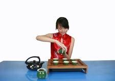 utför service tea Fotografering för Bildbyråer