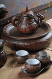 utför service tea Arkivfoto