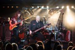 utför tysk heavy metal för bandet ursinne Arkivbild