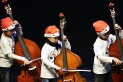 Utför violoncellen Arkivfoton