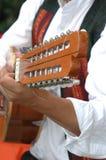 utföra för gitarrist Fotografering för Bildbyråer