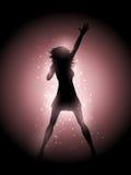 Utföra för kvinnlig sångare Arkivbild