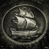 Utföra i relief för Sayling skepp Royaltyfria Foton