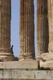 utföra upptåg den greece monumentet arkivbild