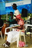 Utförande St Croix, USVI för lokal musikband arkivbilder