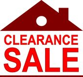 utförsäljning som litet hus vektor illustrationer