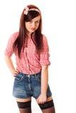 Utforma för flickautvikningsbild Arkivbilder