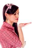 Utforma för flickautvikningsbild Royaltyfri Fotografi