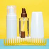 utforma för hårprodukter Arkivbilder