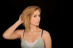 utforma tonåring för blont hår royaltyfria bilder