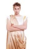 utformad grekisk stilig man royaltyfria bilder