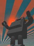 utformad retro robot 3 royaltyfri illustrationer