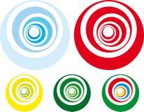 utformad retro spiral Royaltyfri Fotografi