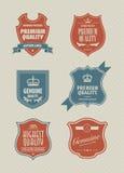 utformad tappning för sköld etikett Royaltyfri Bild