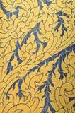 Utformar traditionellt thailändskt för tappning målning Royaltyfri Fotografi