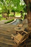 utformat thai för område living Arkivfoton