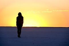 utforskarevandring Fotografering för Bildbyråer