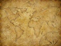 Utforskningöversikt för gammal värld som baseras på bilden som möbleras av NASA royaltyfri illustrationer