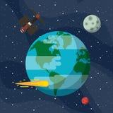 Utforskning av rymdenaffärsföretag vektor illustrationer