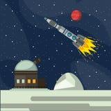 Utforskning av rymdenaffärsföretag stock illustrationer