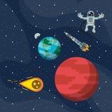 Utforskning av rymdenaffärsföretag royaltyfri illustrationer