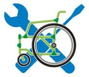 utför service rullstolen Arkivbilder