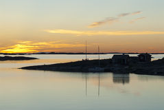 Utfredel evening Stockholm archipelago Royalty Free Stock Photo
