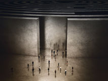 Utgång av invecklad labyrint framförande 3d Royaltyfri Fotografi