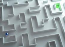 Utgång av labyrinten Arkivbild