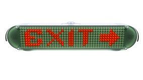 UTGÅNG - Digital Pin Sign med utsändande av LETT ljus vektor illustrationer