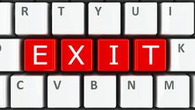 Utgång för datortangentbord Fotografering för Bildbyråer
