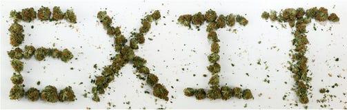 Utgång som stavas med marijuana Fotografering för Bildbyråer