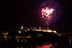 Utgångsfestival 2015 - fyrverkerier för att öppna Royaltyfri Bild