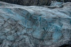 Utgångsglaciär i Seward i Alaska Amerikas förenta stater Arkivfoto