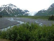 Utgångsglaciär - Seward, Alaska Arkivfoto