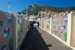 Utgångshamnstadstad i Monaco royaltyfri bild