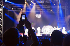 Utgångsmusikfestival Novi Sad Serbien Royaltyfria Bilder