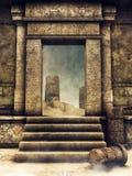 Utgångsport av en forntida gravvalv vektor illustrationer