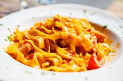 utgångspunkten gjorde pasta Royaltyfri Bild
