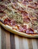 utgångspunkten gjorde pizza Royaltyfri Fotografi