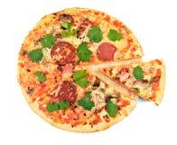 utgångspunkten gjorde pizza Fotografering för Bildbyråer